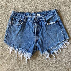 Levi's cutoff denim jean shorts